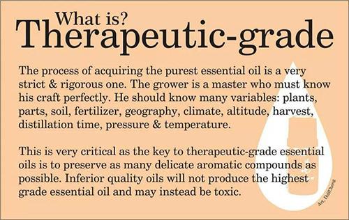 certified pure therapeutic grade essential oils